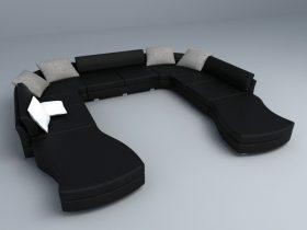 modern black sofa