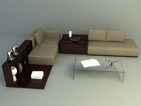 simple brown sofa