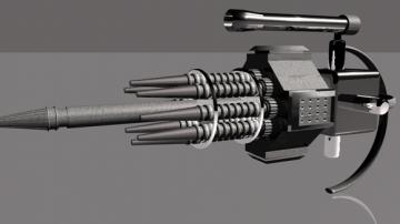 Submachine gun straight
