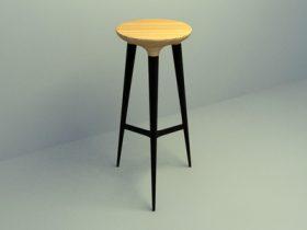 wooden pub chair