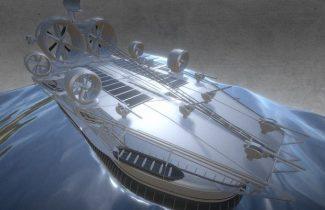 Animated Ocean Scene 3D ship model