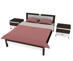 Bed red 3d model