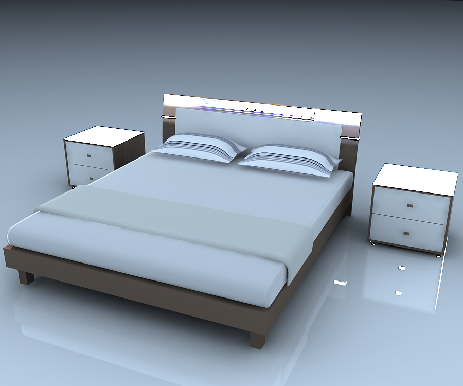 Bed for 3ds max bed model