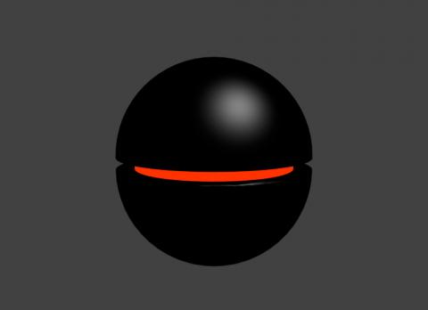Black Floating Robot