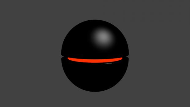 Black Floating Robot Downloadfree3d Com