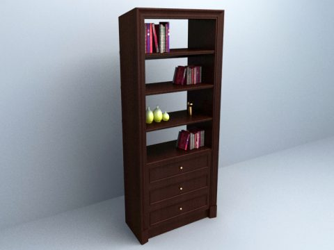 Book Cabinet 3d model