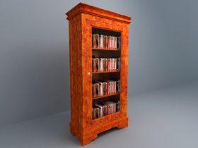 Book High Cabinet 3d model