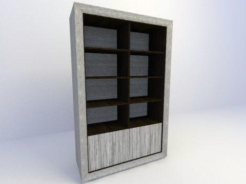 Bookcase 3d max model