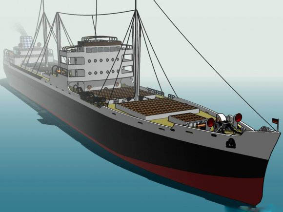 Cargo Ship Ms Muenchen Free 3d Models