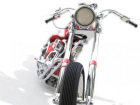 Chopper Bike Harley 3D model