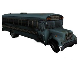 Church Bus 3D model