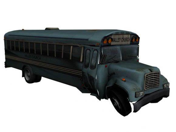 Church Bus 3D model