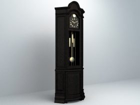 Clock High Cabinet 3d model