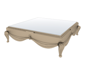 Coffee Table 3ds obj max model