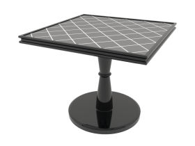 Coffee Table black grid 3d model