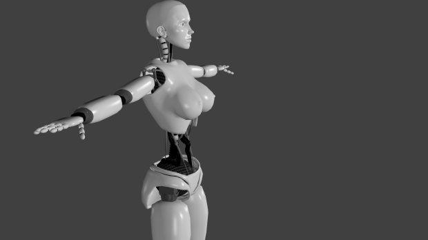 Female Robot Free 3d Models