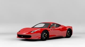 Ferrari 458 Italia textured 3D model