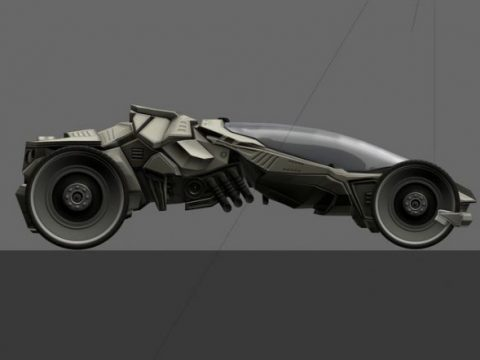 Futuristic Car Game-Ready 3D model