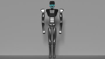Futuristic Humanoid Cyborg