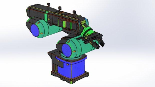 Industry robot arm mk4   Free 3D models
