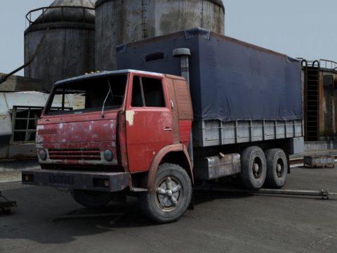 KamAZ 55111 3D truck model