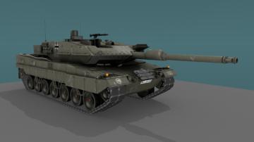 Leopard 2A6 MBT 3D model
