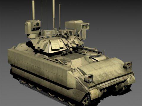 M2A3 ERA Bradley IFV 3D tank model