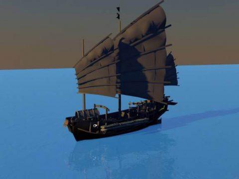 Medieval Boat 3D model