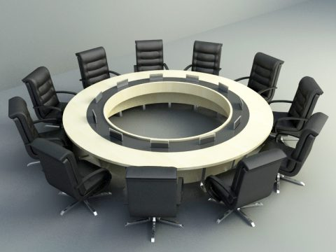 Meeting furnishing 3d model