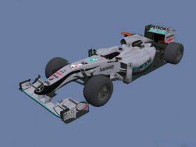 Mercedes F1 3D model