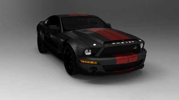 Mustang GT500kr  3D model
