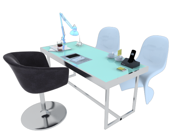 Office Table Set DownloadFree3Dcom