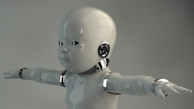 Robot Baby Free 3d Models