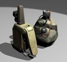 Satchel Charge and Detonator