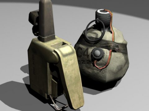 Satchel Charge and Detonator