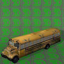 School Bus wrecked 3D model