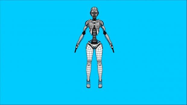 Sci-Fi Female Robot Rig   Free 3D models