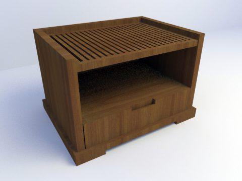 Side Bed Cabinet 3d max model