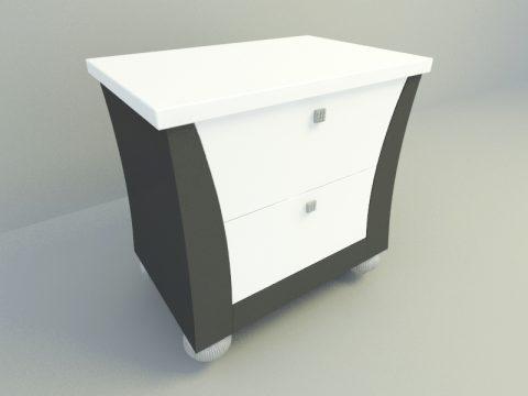 Side Bed Cabinet 3d model