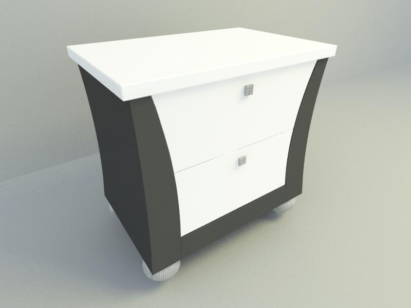 Side Bed Cabinet | Free 3D models