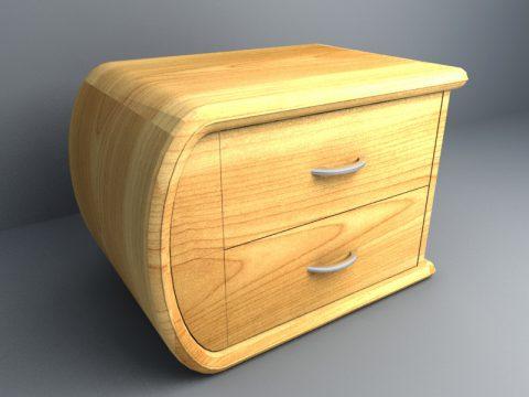 Side Low Table 3d model