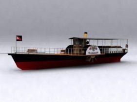 Small Transport Ship Model 3D model