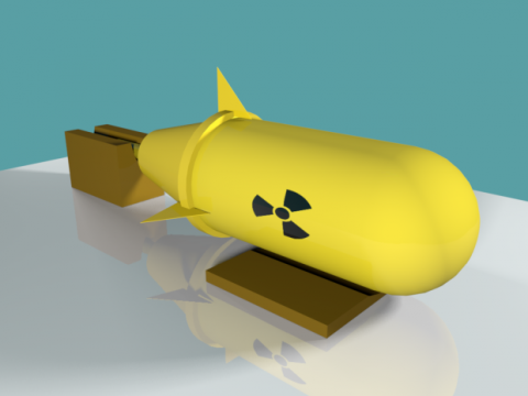 Yellow Nuclear Missile Bomb