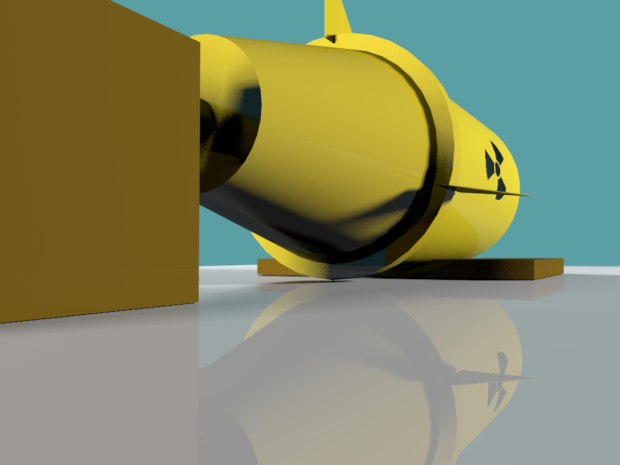 Yellow Nuclear Missile Bomb Free 3d Models