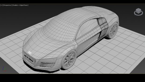 Audi R Car DownloadFreeDcom - Audi car 3d image