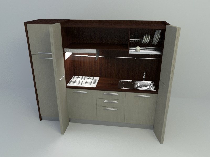 Build in cabinet kitchen for 3d printing kitchen cabinets