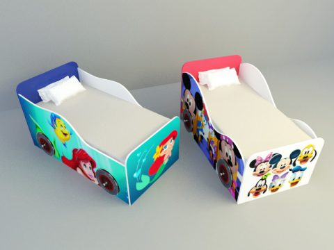 children race car design Bed 3d max model
