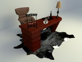 chinese culture working table 3d model