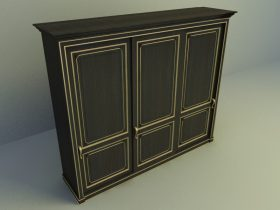 classical wardrobe 3d model