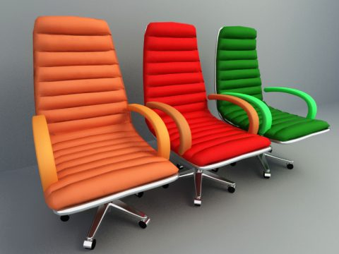 colorful lounge chair 3d model